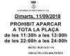 Prohibit aparcar pl Catalunya 11S