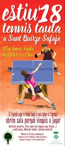 Tennis taula st Quirze Safaja